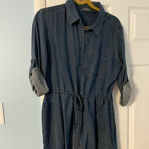 Athleta soft chambray dress